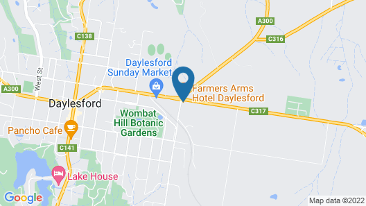 Farmers Arms Hotel Daylesford Map