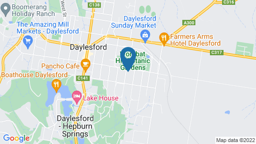 Wombat Hill Lodge Map