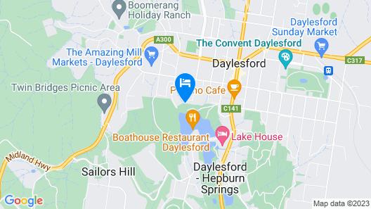 Daylesford Lake Villa 2 Map