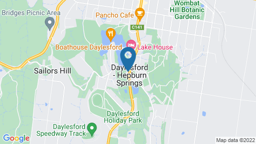 Lake Daylesford Lodge 6 Map