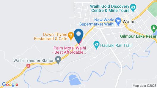 Palm Motel Waihi Map