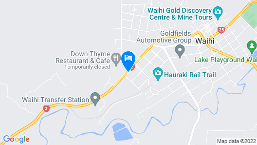 Palm Motel Waihi Map