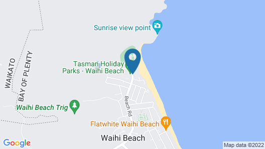 Waihi Beach TOP 10 Holiday Resort Map