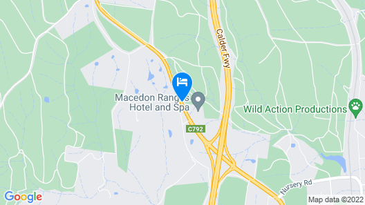 Macedon Ranges Hotel & Spa Map