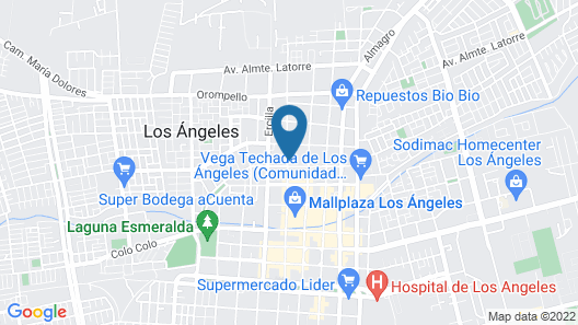 Hostal Nativo Los Angeles Map