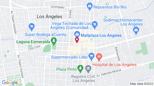 Four Points by Sheraton Los Angeles Map