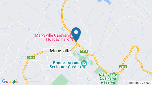 Marysville Caravan and Holiday Park Map