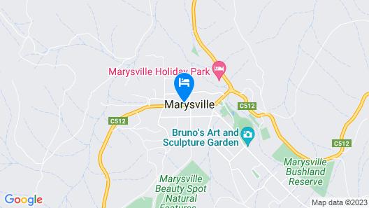 Marysville Garden Cottages Map