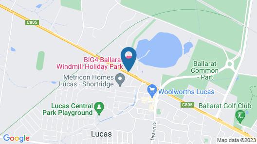 Big4 Ballarat Windmill Holiday Park Map