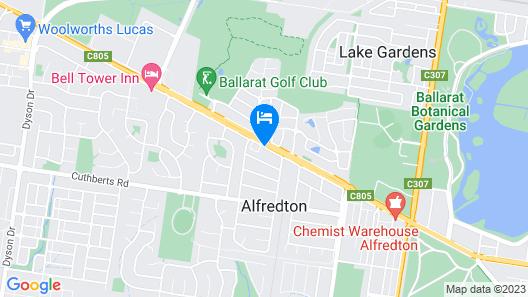 Ambassador Motor Inn Ballarat Map