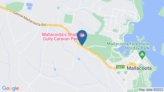 Mallacoota's Shady Gully Caravan Park Map