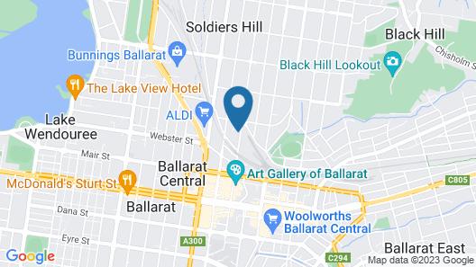 Ballarat Station Apartments Map