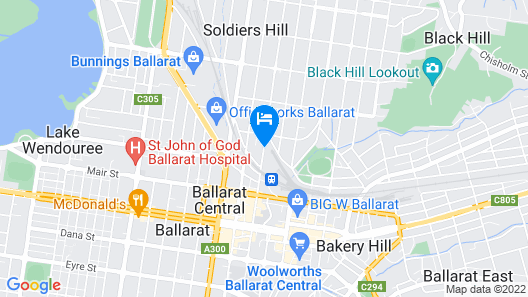 Ballarat Serviced Apartments Map