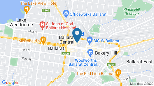 Quality Inn The George Hotel Ballarat Map