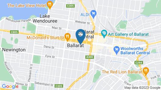 Ballarat Premier Apartments Map