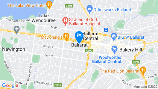 Ballarat Premier Apartments Map