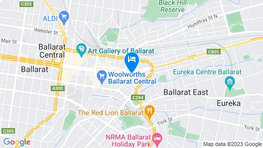 Central City Motor Inn Map