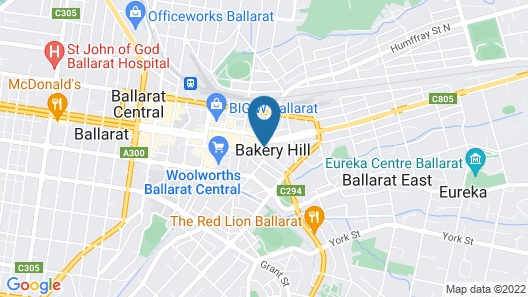 Bakery Hill Motel Map