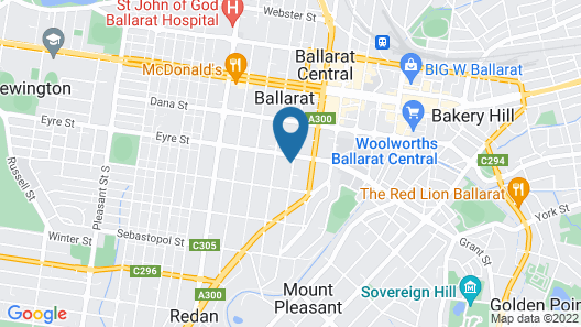 Ballarat Central Bed and Breakfast Map