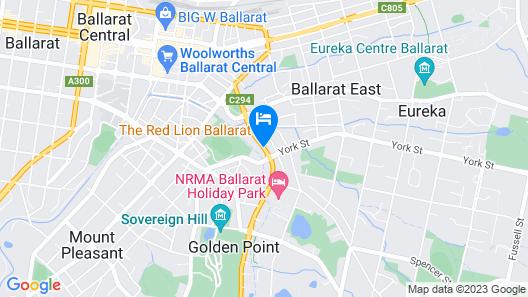 Sovereign Park Motor Inn Map