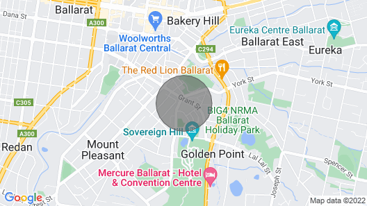 Historic Californian Bungalow in the Heart of Ballarat - Sovereign Cottage Map