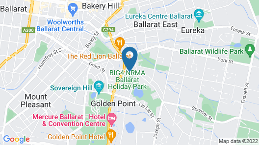 BIG4 Ballarat Goldfields Holiday Park Map