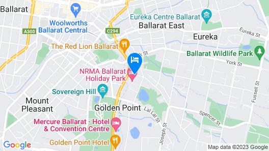 BIG4 NRMA Ballarat Holiday Park Map