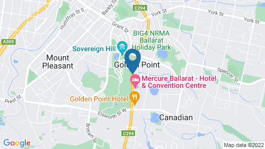 Best Western Plus Ballarat Suites Map