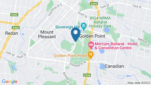 Sovereign Hill Hotel Map