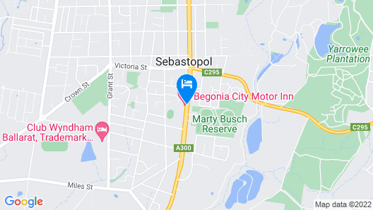 Begonia City Motor Inn Map