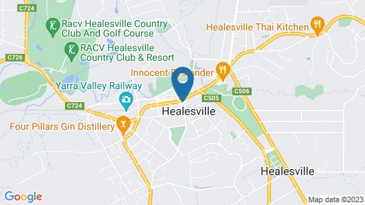 Healesville Grand Hotel Map