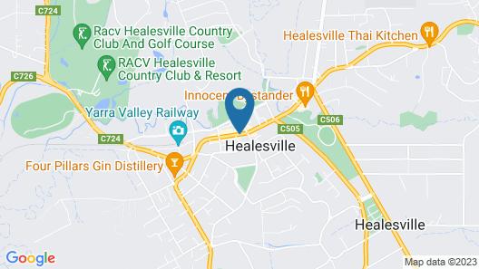 Healesville Hotel Map