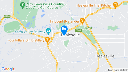 Healesville Apartments Map