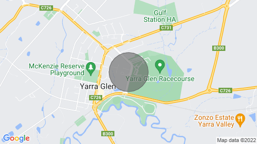 Yarra Glen Racecourse Apartments Map