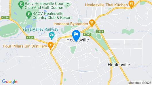 Healesville Garden Accommodation Map