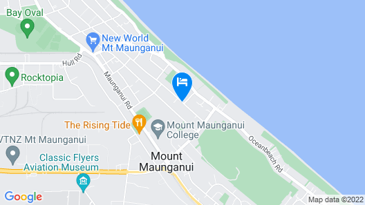 Blue Wave Motel Mount Maunganui Map