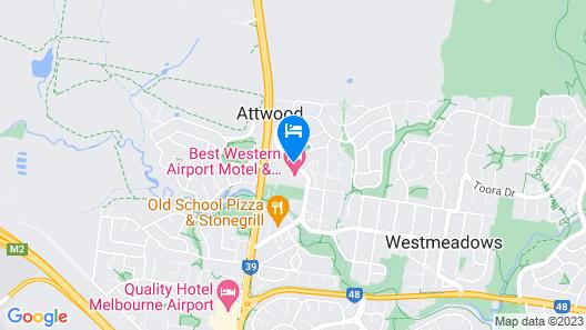 Airport Tourist Village Melbourne Map