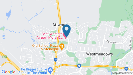 Best Western Airport Motel and Convention Centre Map