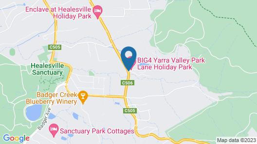 BIG4 Yarra Valley Park Lane Holiday Park Map
