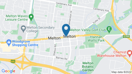 Melton Motor Inn & Apartments Map