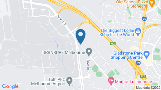 Ciloms Airport Lodge Map
