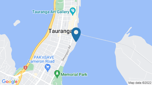 The Tauranga on the Waterfront Map
