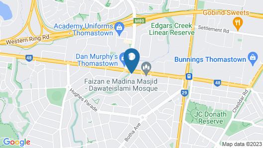 Best Western Mahoneys Motor Inn Map