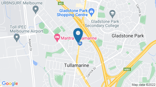 Melbourne Airport Motel Map
