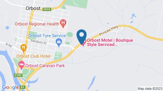 Orbost Motel Map