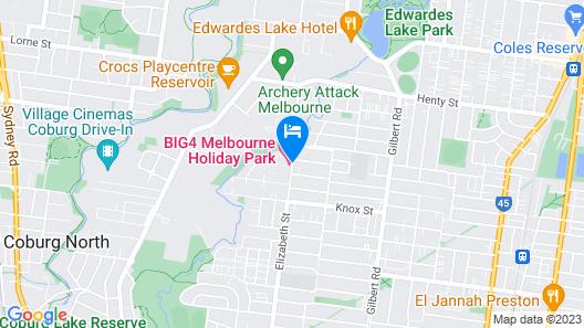 BIG4 Melbourne Holiday Park Map