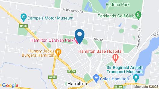 Hamilton Caravan Park Map