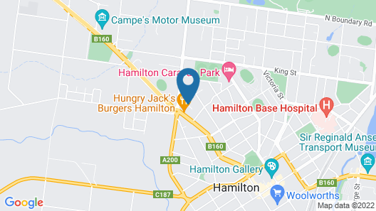 Boomers Guest House Hamilton Map