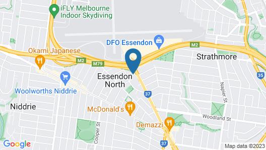 Essendon Motel Map