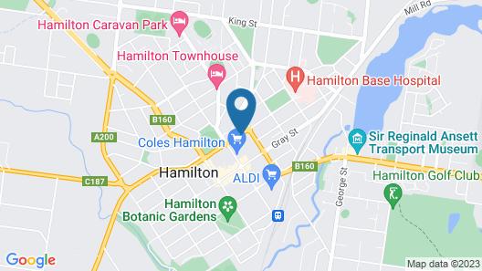 Hamilton Lonsdale Motel Map
